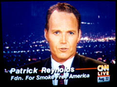 Patrick Reynolds is a motivational speaker and anti-smoking advocate. His university lecture programs have won raves, and he also presents assembly programs at high schools and middle schools.