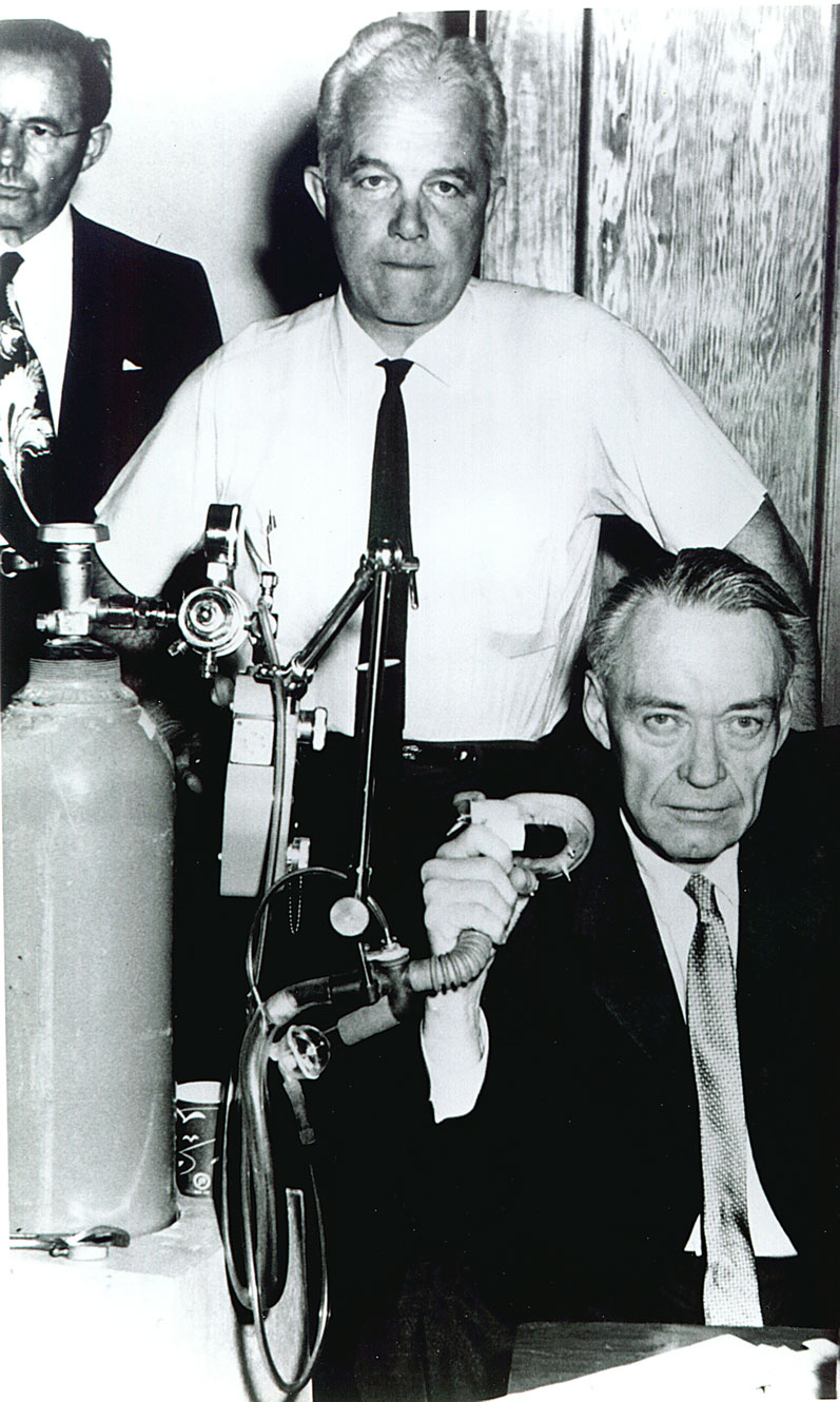 RJ Reynolds, Jr. with emphysema in 1962